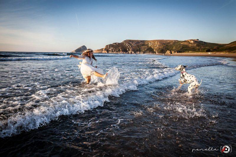Penella fotografía, fotógrafo de Comuniones exteriores en la playa, zonas de Avilés, Oviedo y Gijón