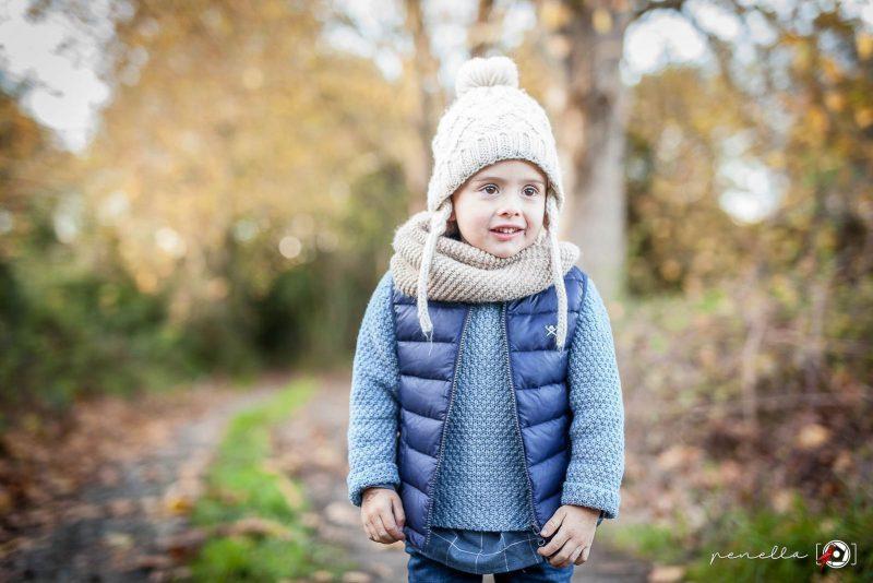 Fotógrafo infantil y de niños a domicilio y sesiones de otoño en Asturias Penella Fotografía