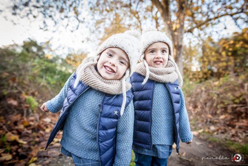 Fotógrafo infantil y de niños en sesión de otoño en Asturias Penella