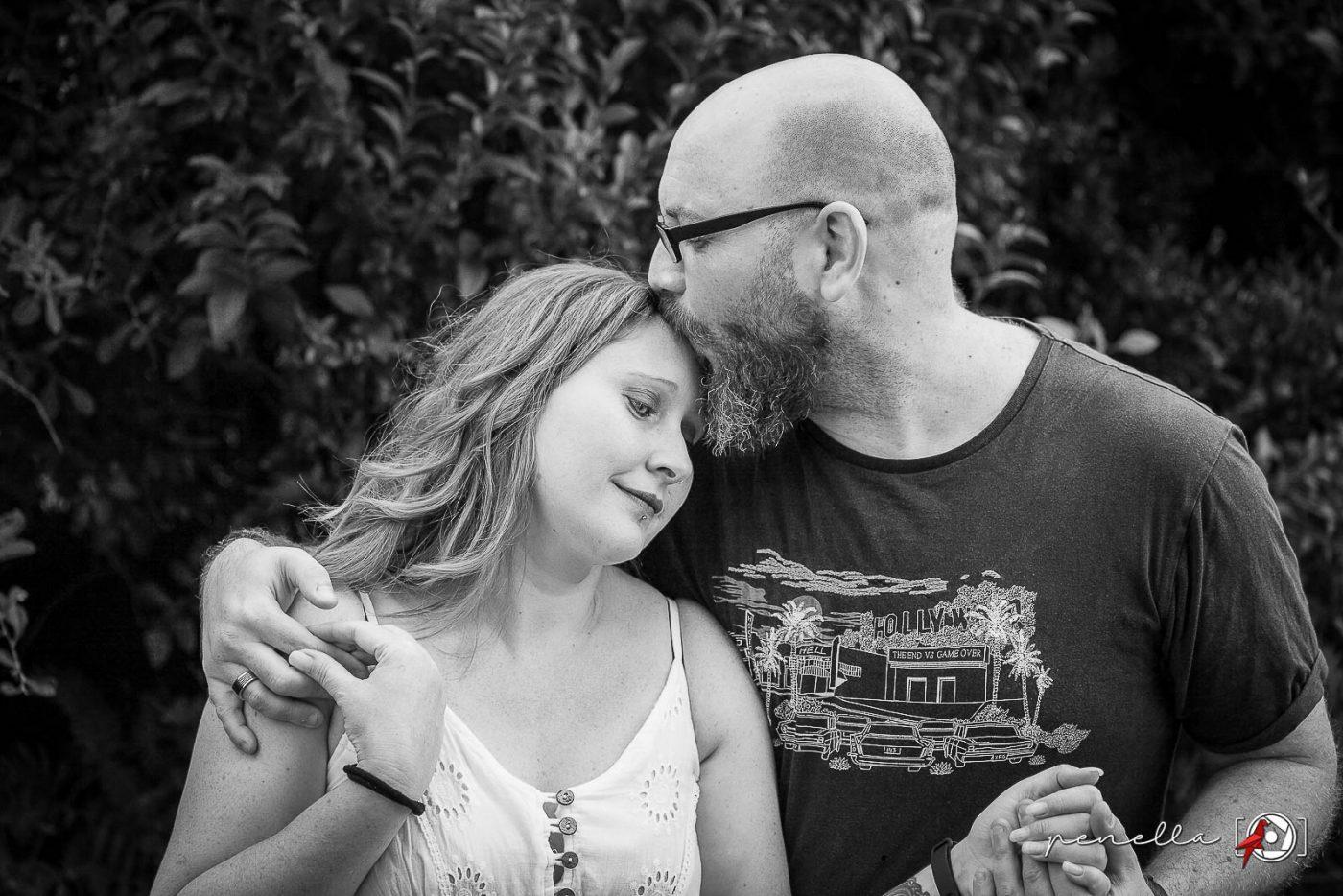 Fotógrafo de postboda en familia en Asturias, fotografía en blanco y negro