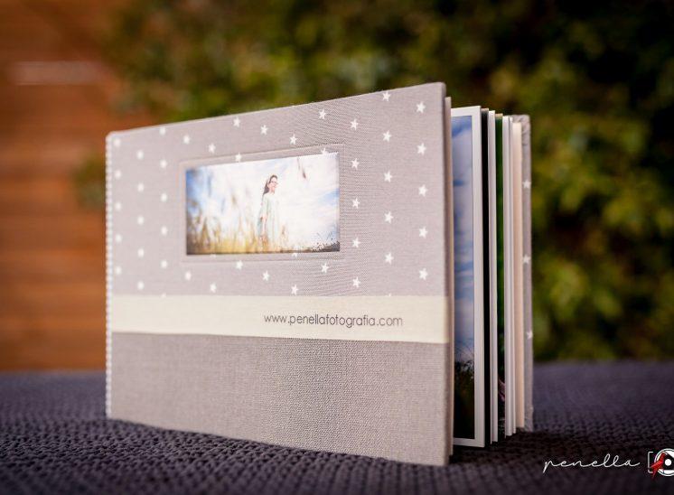 Penella Fotografía álbum de diseño personalizable de fotógrafo infantil en Asturias
