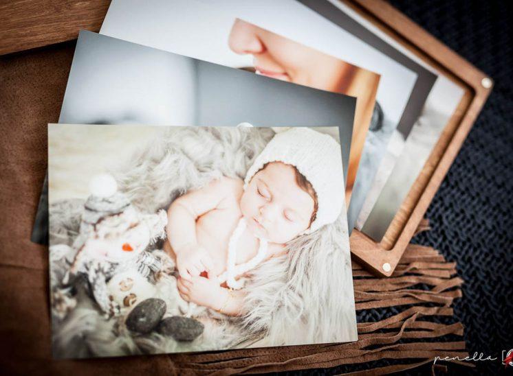 caja detalle con impresión en fineart de la fotógrafa Penella Fotografía