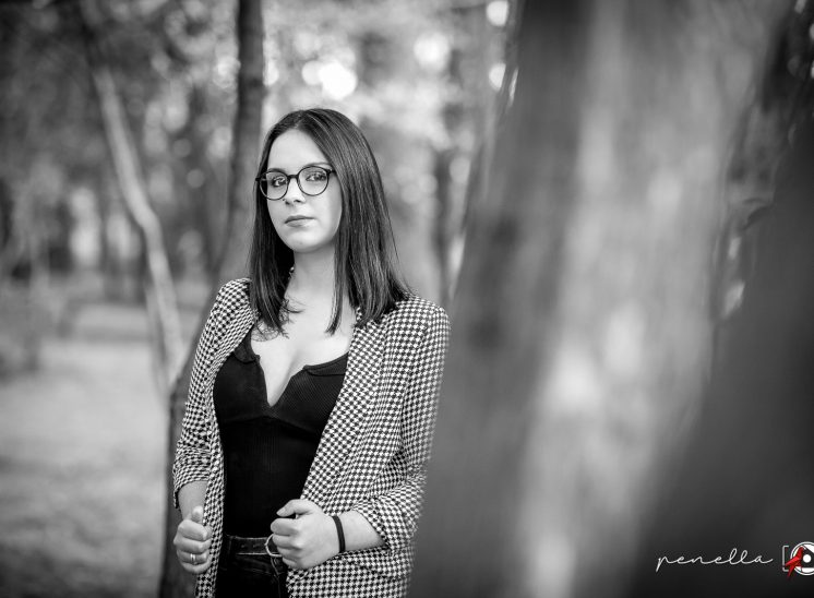 foto en blanco y negro de sesión de retrato y book en Asturias