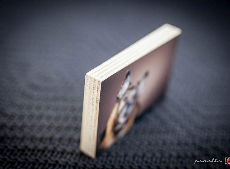 taco de madera recordatorio de fotógrafo en Asturias